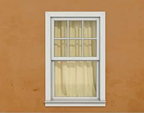 This is a picture of a double hung window in the Toledo, Ohio area.